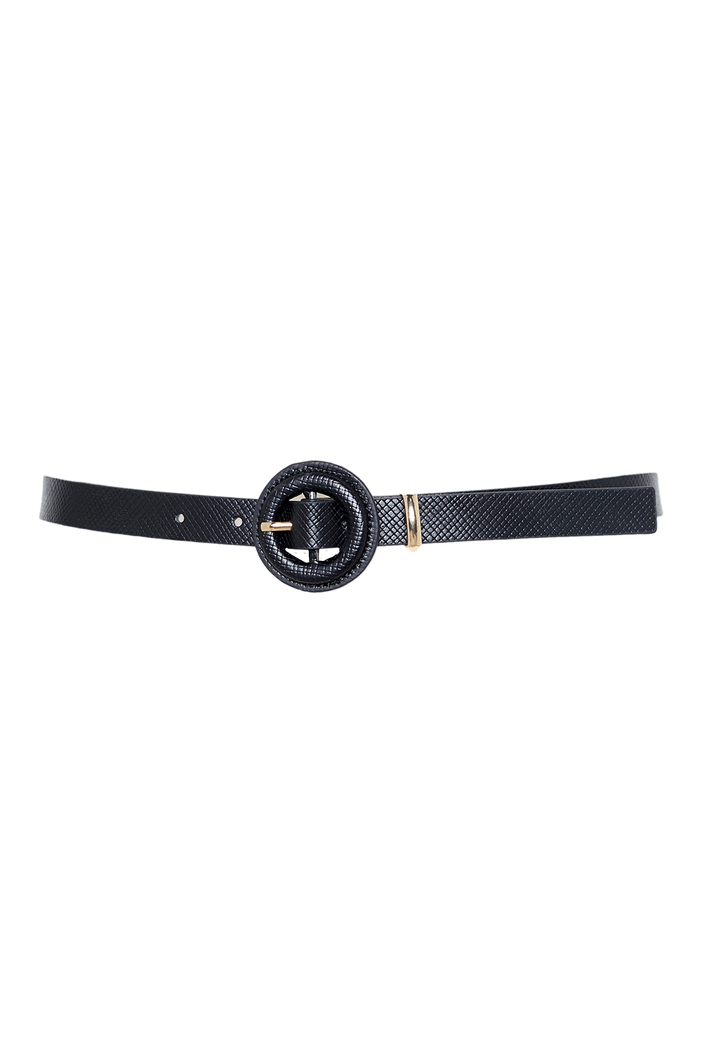 COVERED BUCKLE BELT in colour METEORITE