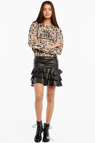 CASS RA-RA SKIRT in colour CAVIAR