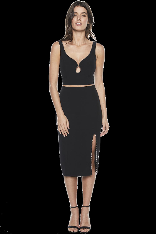 SIENNA TRIM SKIRT in colour CAVIAR