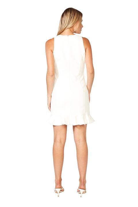 MARKLE MINI DRESS in colour BRIGHT WHITE