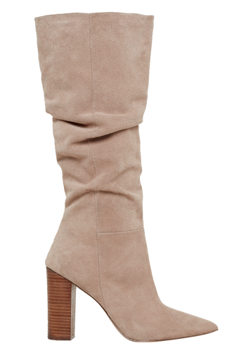 RUCHED KNEE BOOT in colour SAND