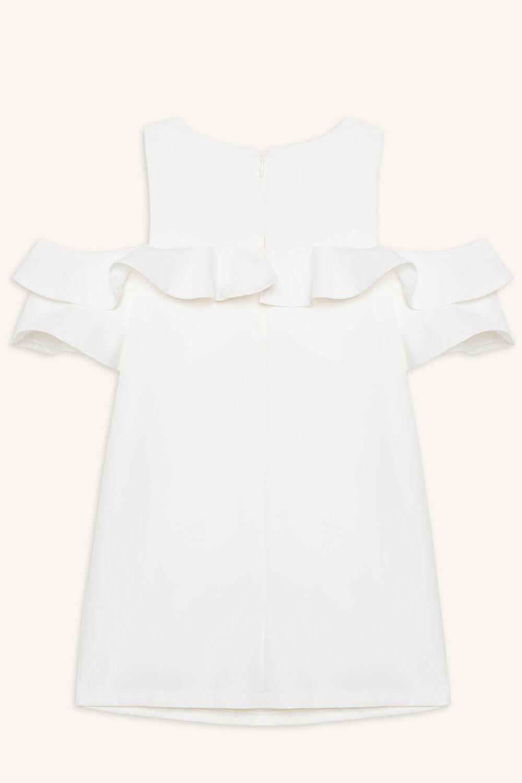 TILVIE SHIFT DRESS in colour CLOUD DANCER