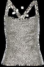 JULIA STRAP TOP in colour CAVIAR