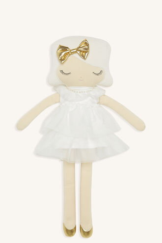 BARDOT JUNIOR PEARL DOLL in colour WHITE ALYSSUM