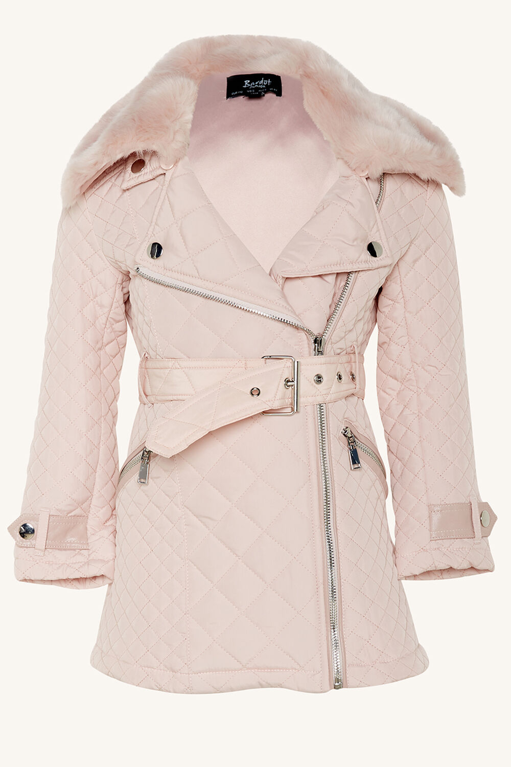TWEEN GIRL GRACE QUILTED COAT   in colour PRIMROSE PINK