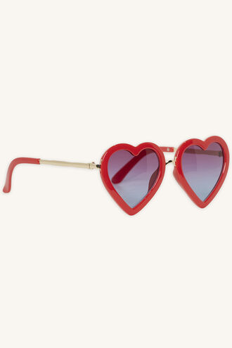 ZOE LOVE HEART SUNGLASSES in colour RED BUD