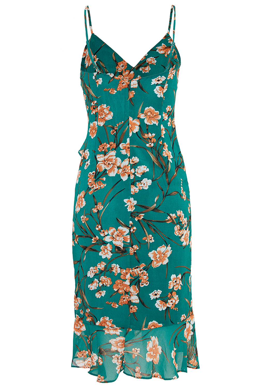 MALIKA FLORAL DRESS in colour CADMIUM GREEN