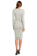 RACHEL ROUCHED DRESS in colour PALOMA