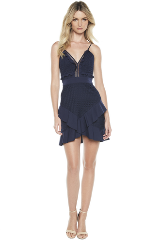 FAE LACE DRESS in colour DRESS BLUES