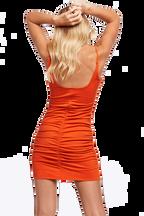 KAROLINA MINI DRESS in colour MANDARIN RED