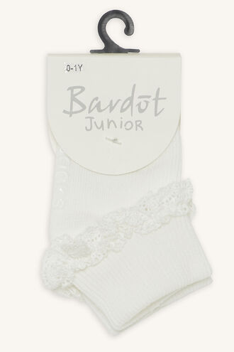 LACE FRILL SOCKS in colour WHITE ALYSSUM