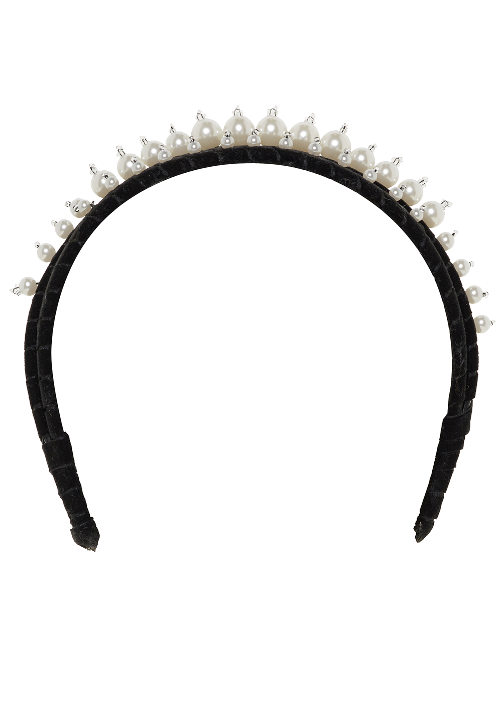 DOUBLE PEARL HEADBAND in colour METEORITE