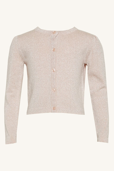 LUREX CARDIGAN in colour PALE DOGWOOD