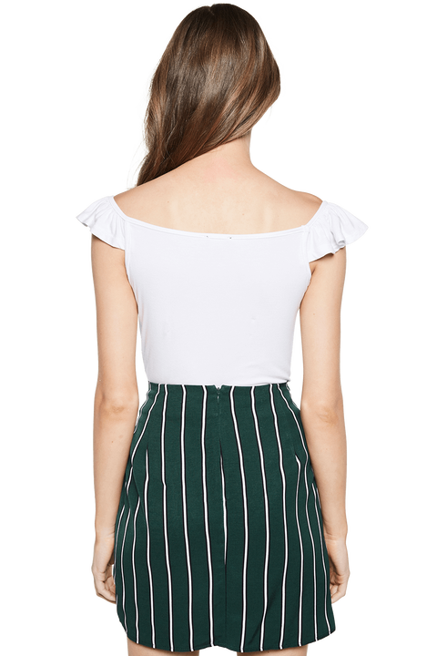 GEMMA TOP in colour BRIGHT WHITE