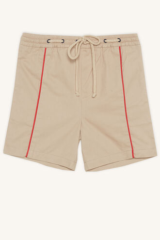 PIPED SHORT in colour WHITECAP GRAY