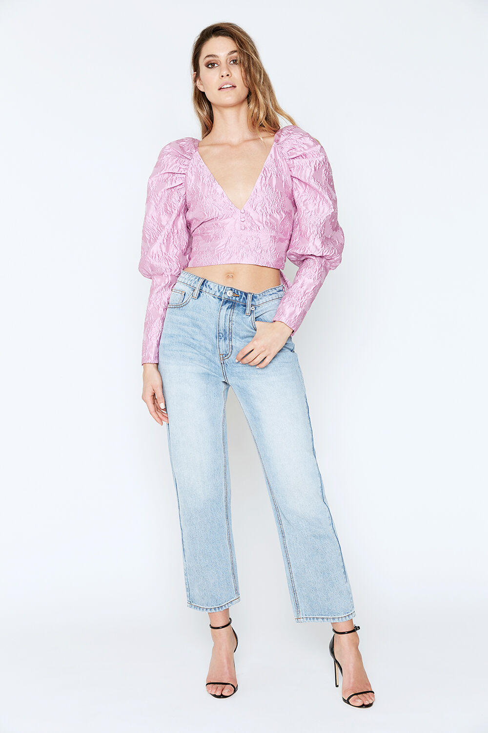 LORIANA TOP in colour LILAC SNOW