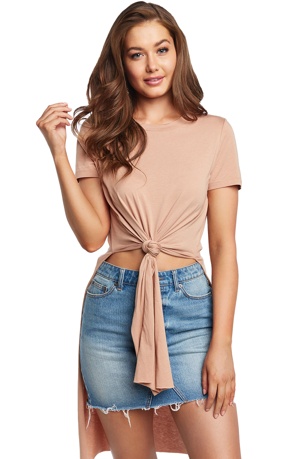TYLA TEE in colour PRALINE