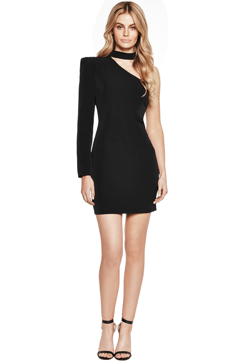WILLOW DRESS in colour CAVIAR