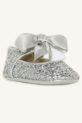 GLITTER BABY SHOE in colour SILVER
