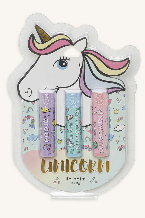UNICORN LIMP BALM 3 PACK in colour BELLINI
