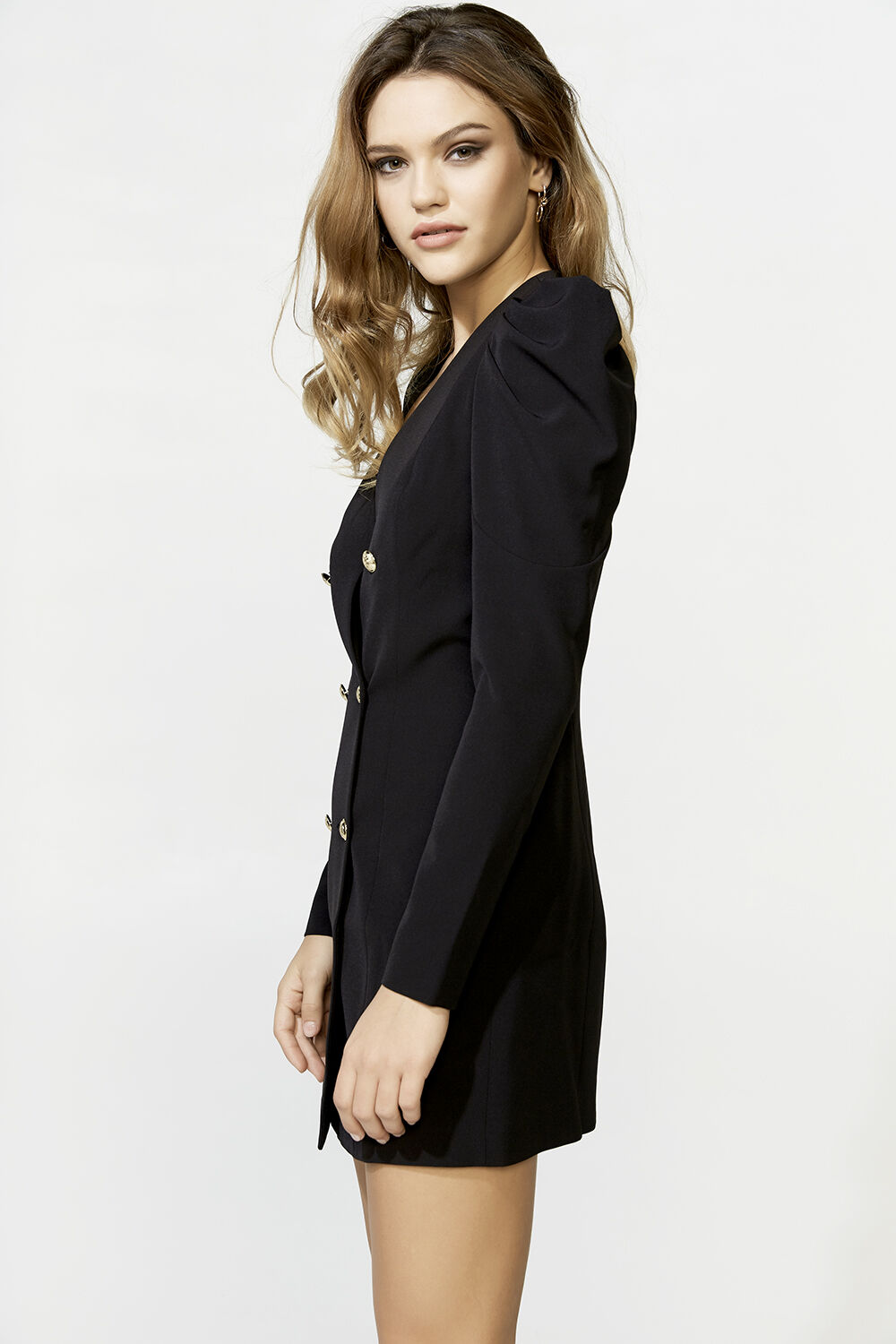 BRITT BLAZER DRESS in colour CAVIAR