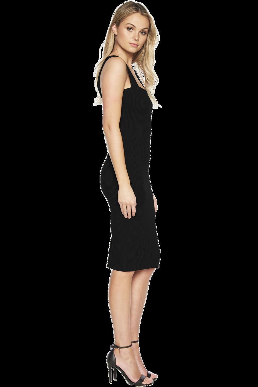MIMI RIB DRESS in colour CAVIAR