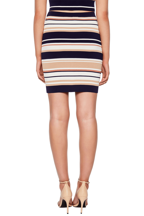 MULTI STRIPE SKIRT in colour DRESS BLUES