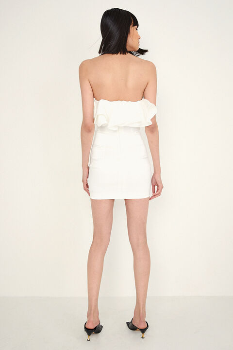 LULU MINI DRESS in colour CLOUD DANCER