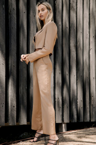 TAM WIDE LEG PANT in colour ALMOND