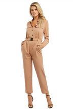 BUCKLE UP JUMPSUIT in colour PRALINE