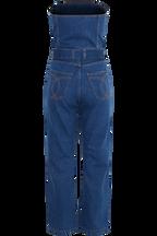 BLUE JEAN BUSTIER JUMPSUIT in colour CITADEL
