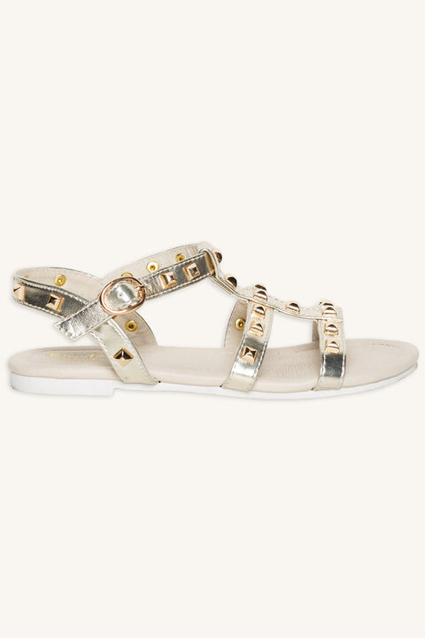 MILLY STUDDED SANDAL in colour GOLD EARTH