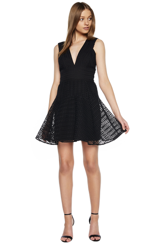 LACEY DRESS in colour CAVIAR