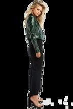 CROPPED BIKER JACKET in colour DARK GREEN