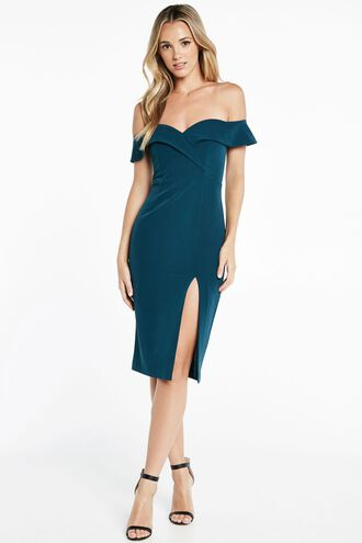 BELLA DRESS in colour DEEP TEAL