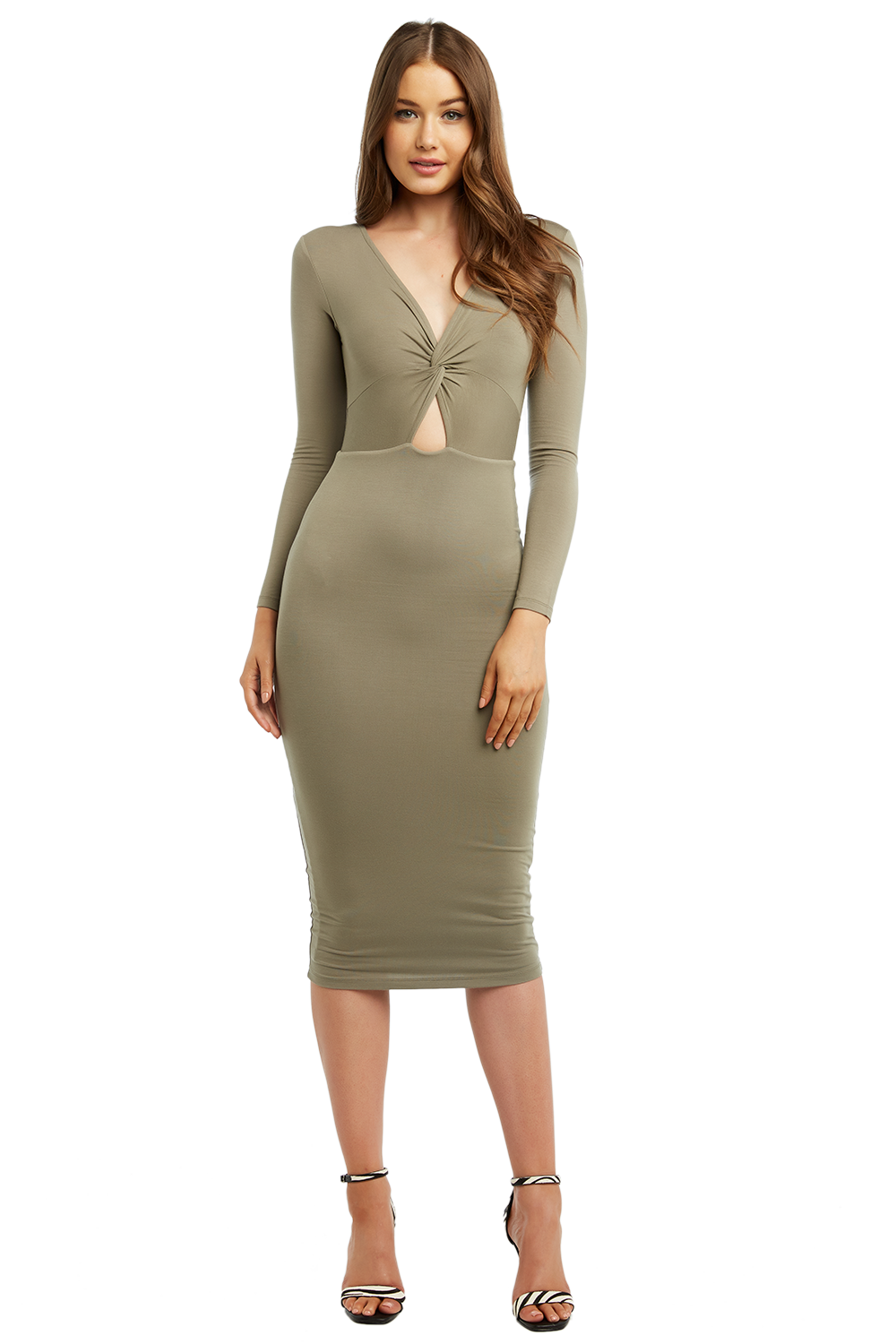 e120ad3d87b4 Twist Front Knit Dress | Ladies Sale & Clothing | Bardot