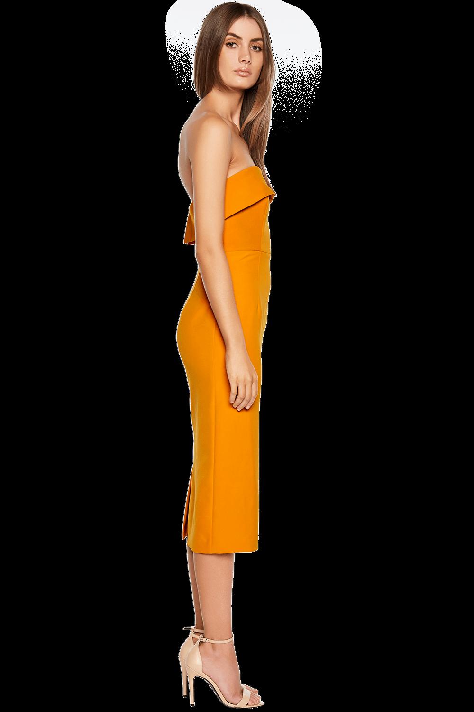 GEORGIA DRESS in colour FLAME