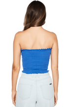 BANDEAU TOP in colour PALACE BLUE