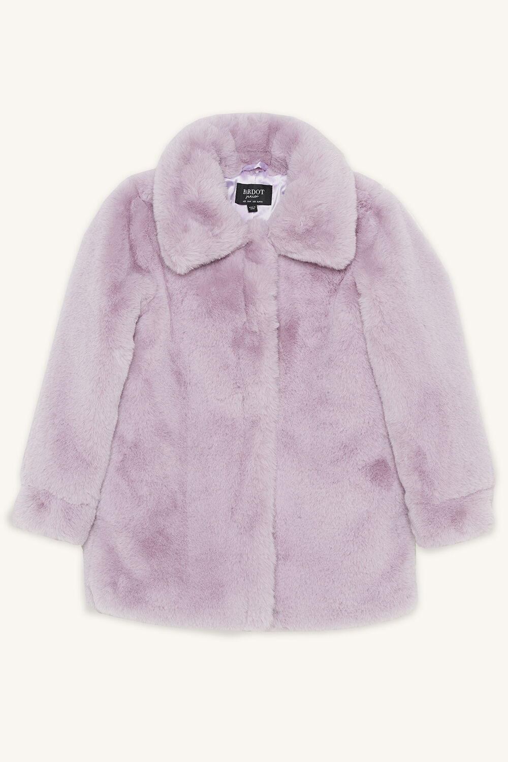 PIA FUR BOMBER in colour LILAC HINT