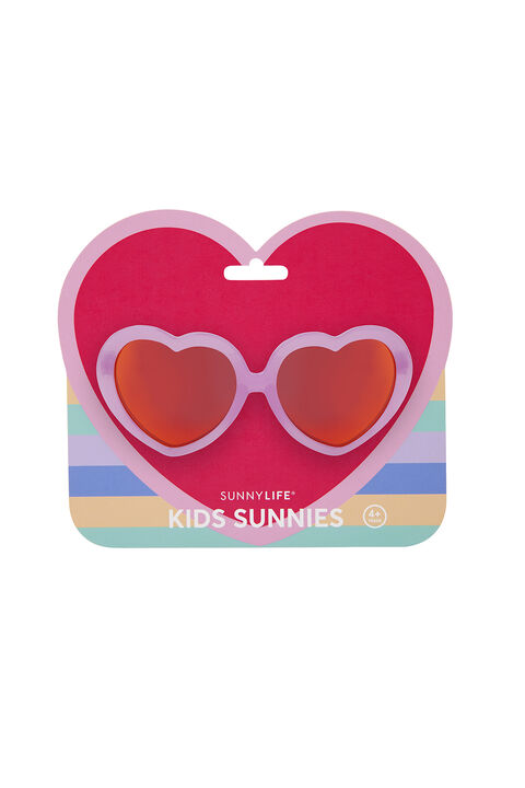 Heart Kids Sunnies in colour PARADISE PINK