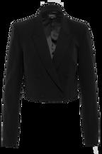 BRITT CROPPED BLAZER in colour CAVIAR