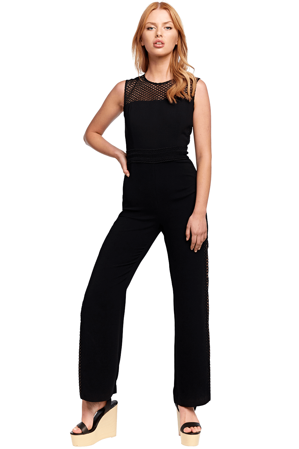 BROOKE JUMPSUIT in colour CAVIAR