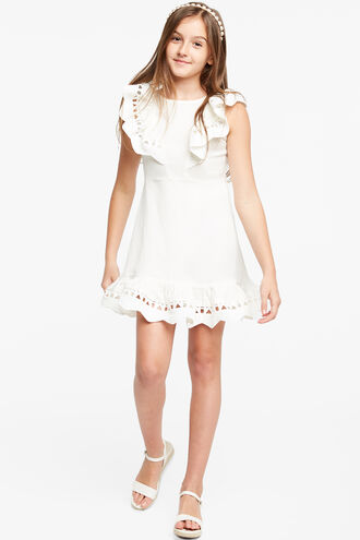 PETRA MINI DRESS in colour CLOUD DANCER