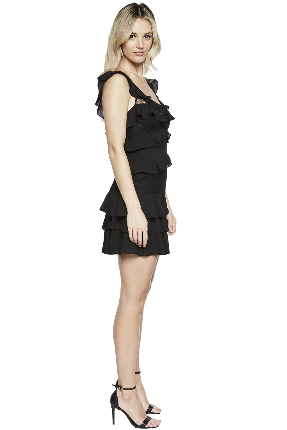 BABYLON DRESS in colour JET BLACK