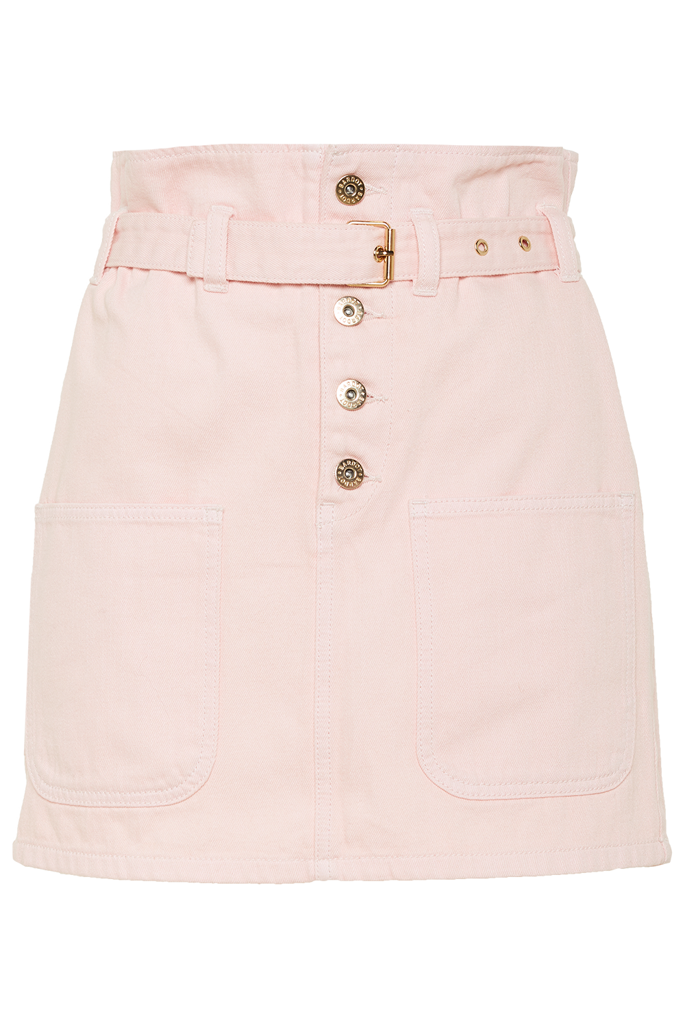 PATCH POCKET DENIM MINI in colour SHRINKING VIOLET
