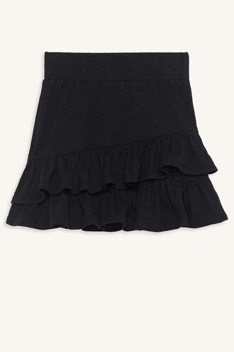 KARA RUFFLE SKIRT in colour JET BLACK