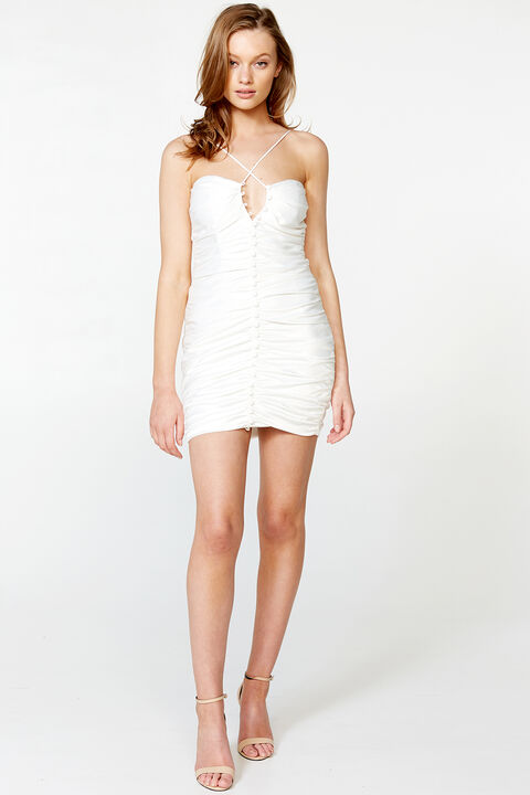 JENNER MINI DRESS in colour CLOUD DANCER