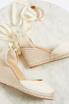 VACAY ESPADRILLE WEDGE in colour CLOUD DANCER