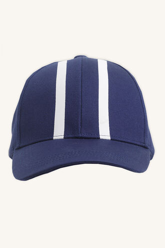 STRIPE CAP in colour BLACK IRIS