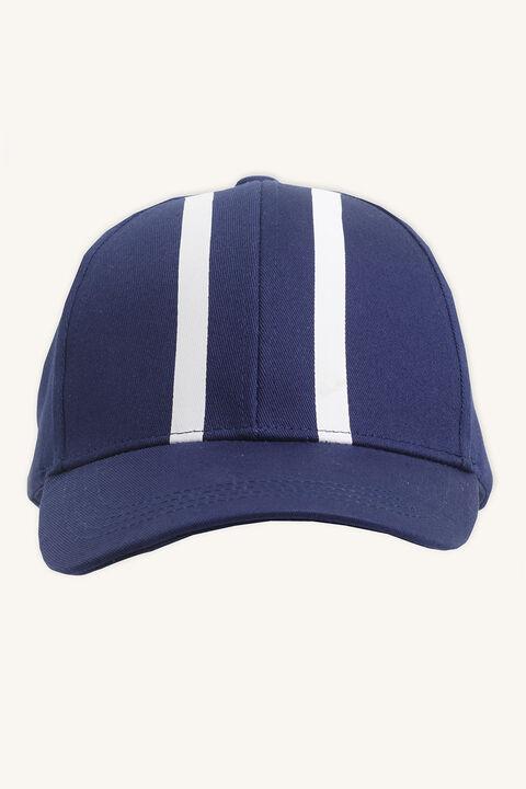 STRIPE CAP in colour BLACK IRIS